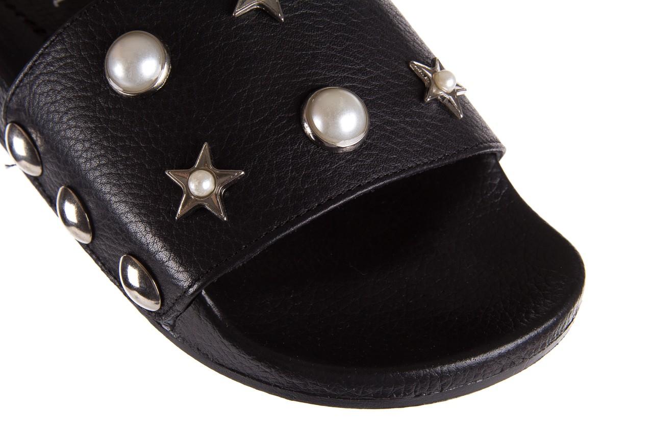 Klapki bayla-112 0550-096 black, czarny, skóra naturalna  - piankowe - klapki - buty damskie - kobieta 12