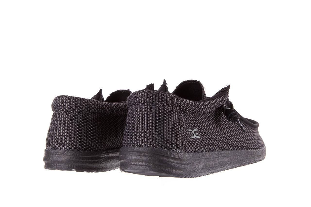 Półbuty heydude wally sox black, czarny, materiał  - heydude - nasze marki 9