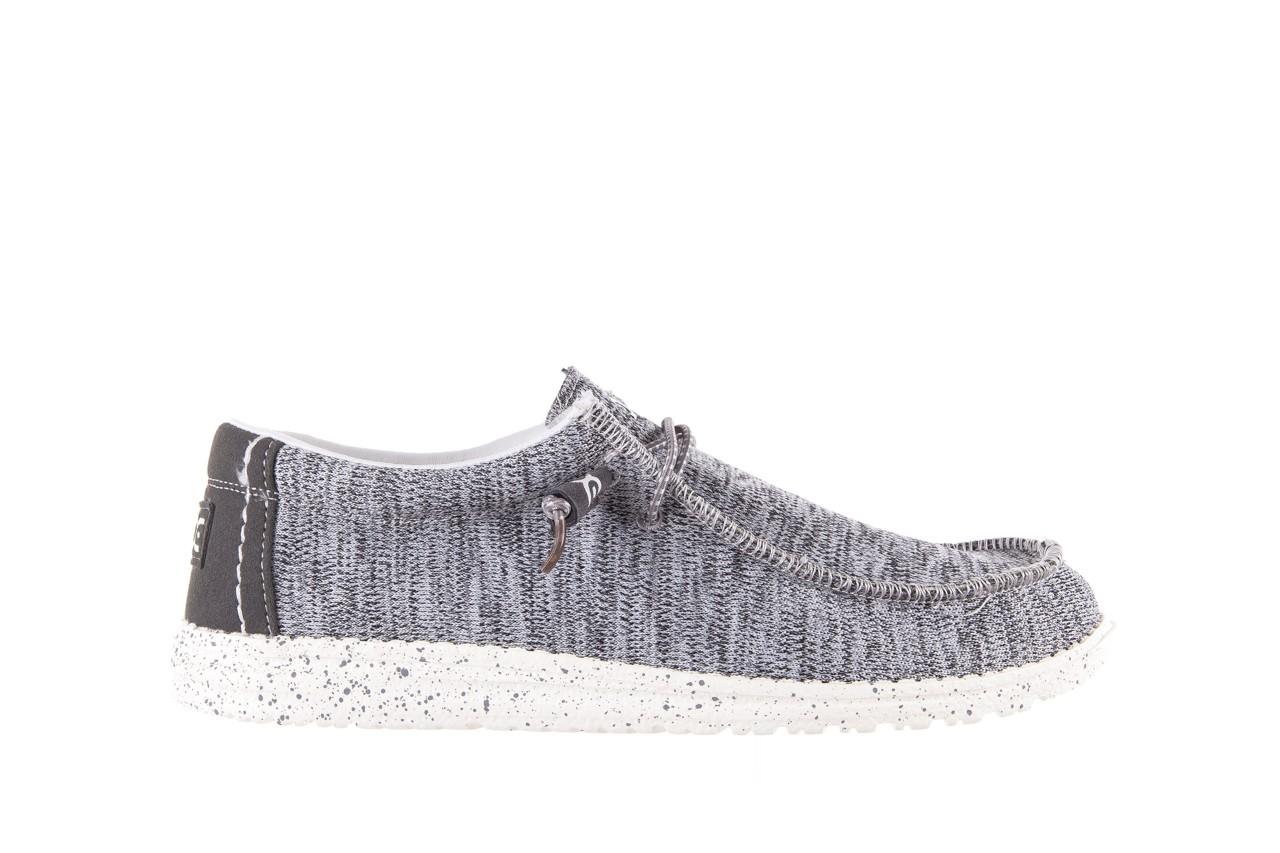 Półbuty heydude wally sox grey multi, szary, materiał  - heydude - nasze marki 6