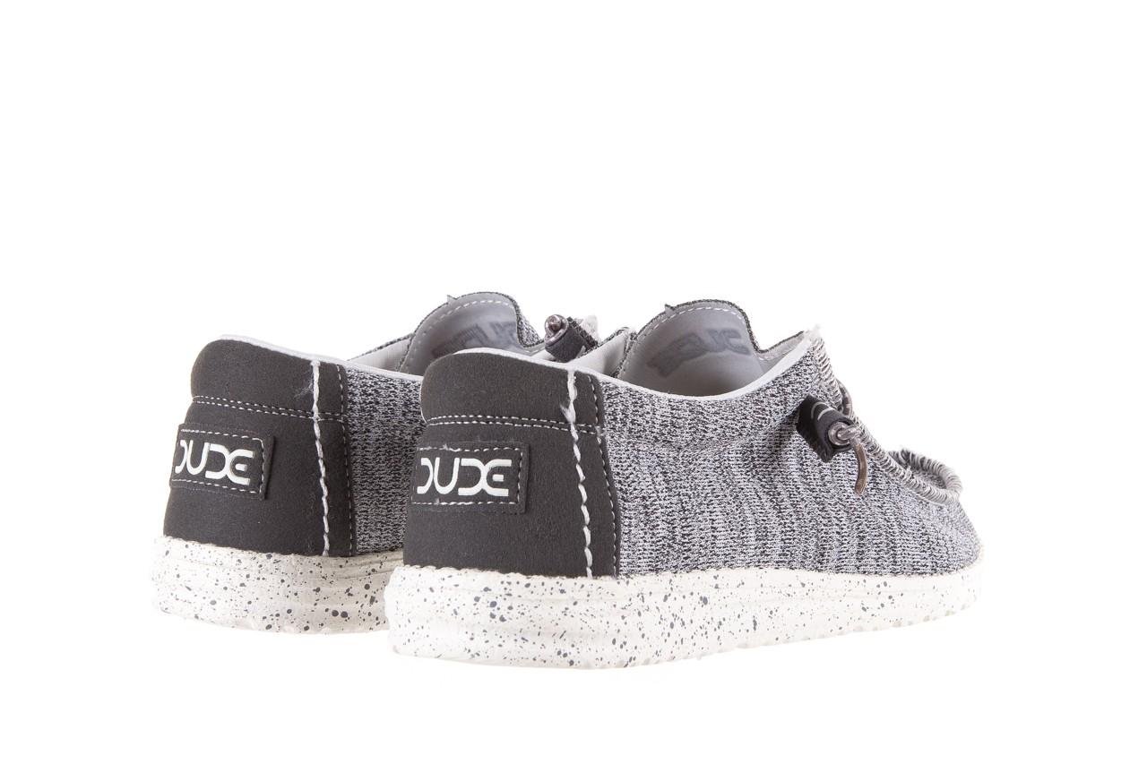 Półbuty heydude wally sox grey multi, szary, materiał  - heydude - nasze marki 9