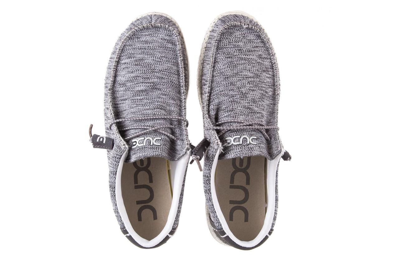 Półbuty heydude wally sox grey multi, szary, materiał  - heydude - nasze marki 10