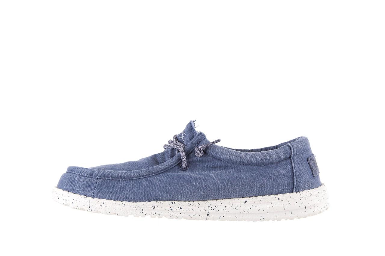 Półbuty heydude wally washed steel blue 003137, niebieski, materiał - heydude - nasze marki 8
