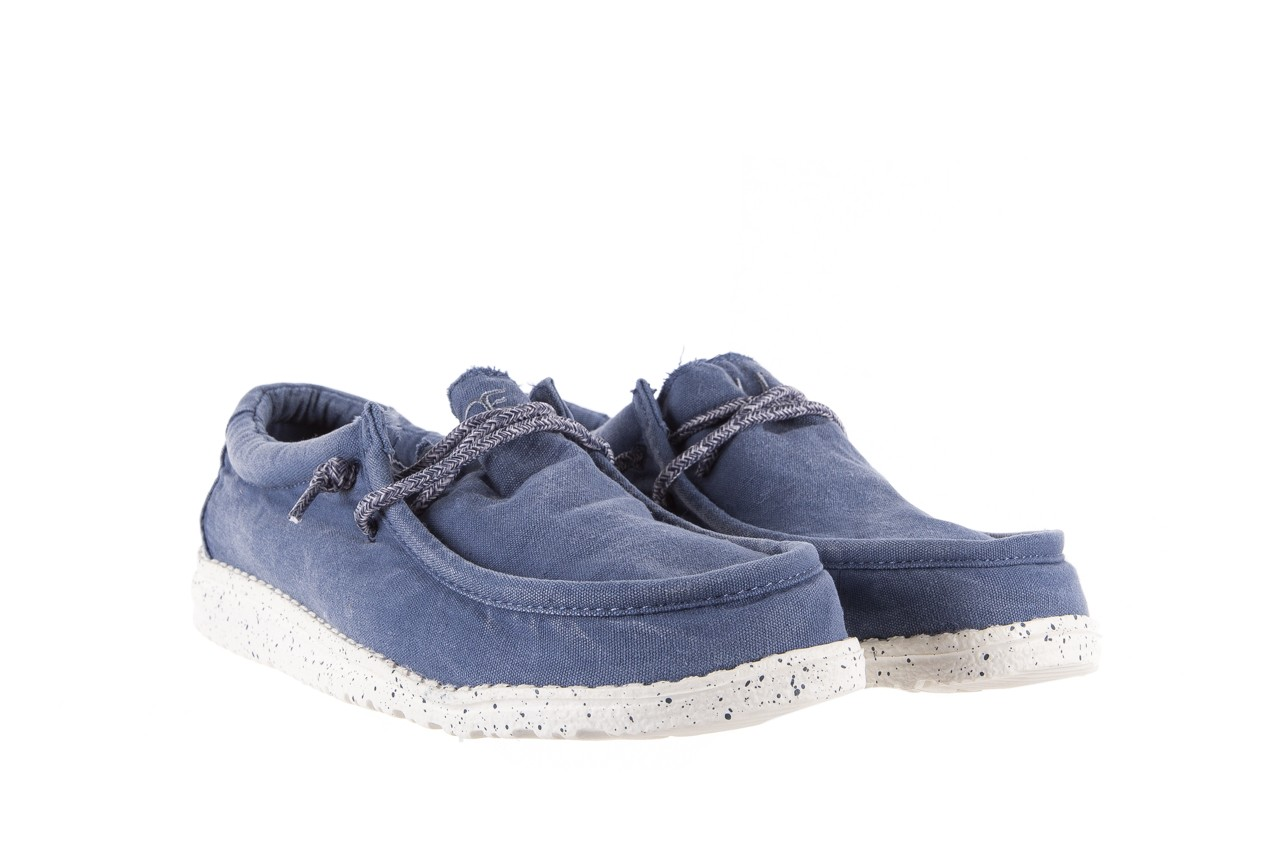 Półbuty heydude wally washed steel blue 003137, niebieski, materiał - heydude - nasze marki 7