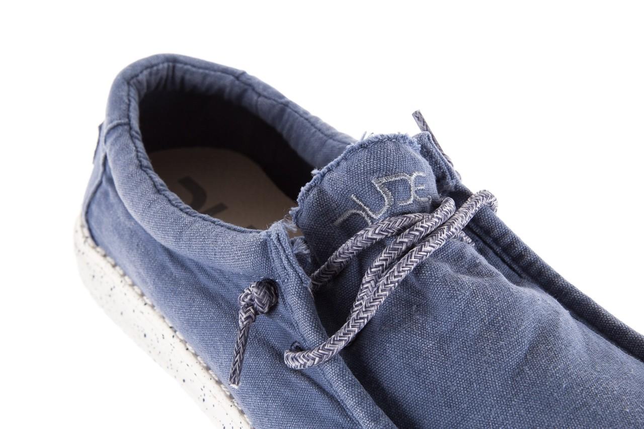 Półbuty heydude wally washed steel blue 19, niebieski, materiał - heydude - nasze marki 11