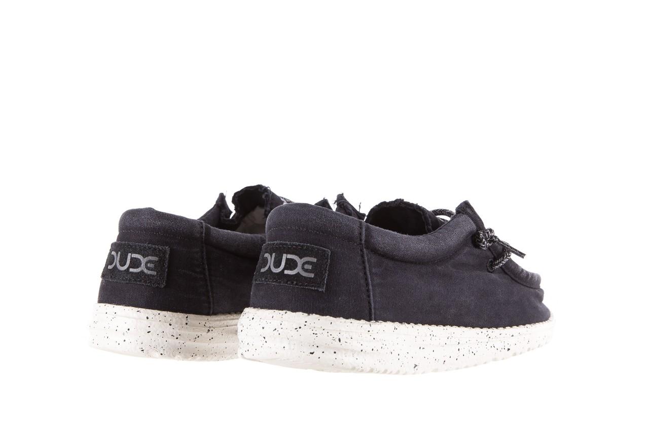 Półbuty heydude wally washed black, czarny, materiał - sportowe - półbuty - buty męskie - mężczyzna 9