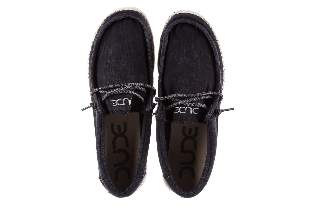 Półbuty heydude wally washed black, czarny, materiał - sportowe - półbuty - buty męskie - mężczyzna 10