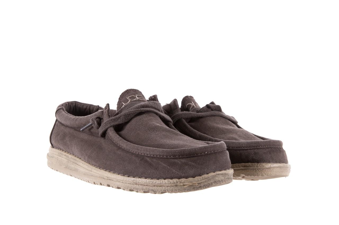 Półbuty heydude wally washed mud 003136, brąz, materiał - heydude - nasze marki 7