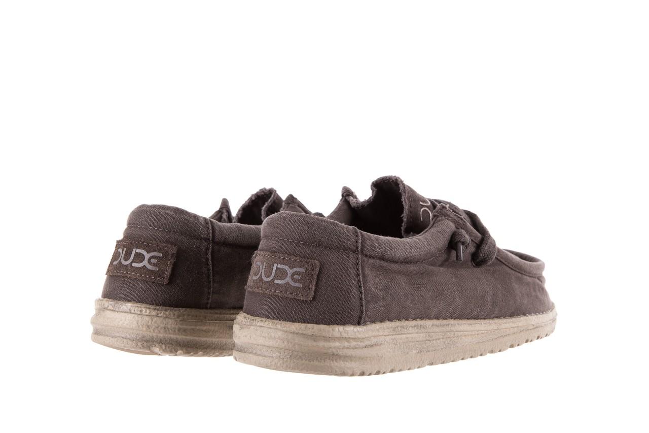 Półbuty heydude wally washed mud 003136, brąz, materiał - heydude - nasze marki 9