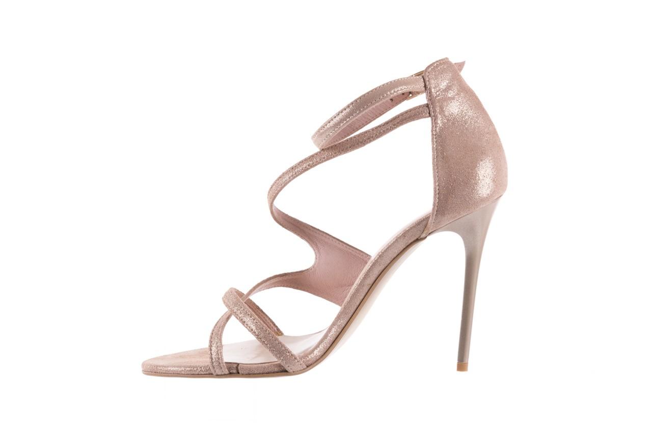 Sandały bayla-097 11 szampańskie sandały na szpilce, skóra naturalna 9