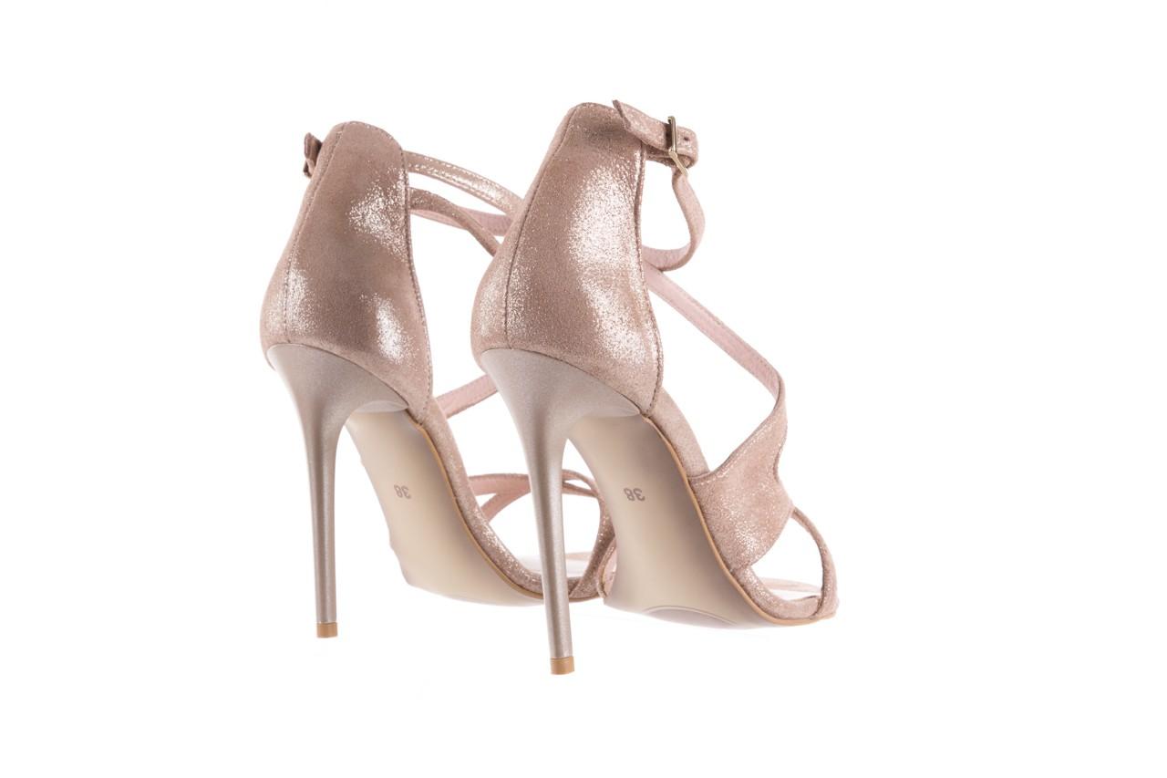 Sandały bayla-097 11 szampańskie sandały na szpilce, skóra naturalna 10