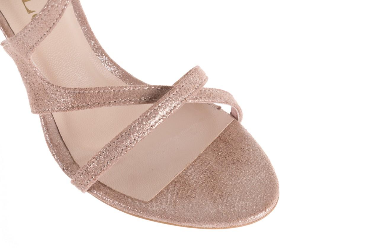 Sandały bayla-097 11 szampańskie sandały na szpilce, skóra naturalna 13