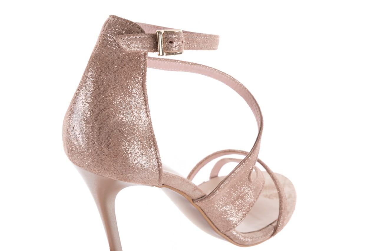Sandały bayla-097 11 szampańskie sandały na szpilce, skóra naturalna 12