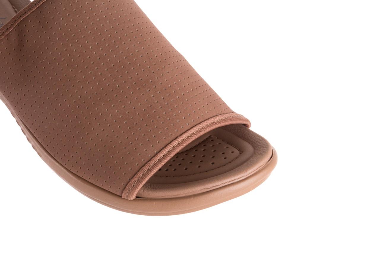 Klapki azaleia 322 661 nobuck nuts, brąz, materiał - azaleia - nasze marki 13