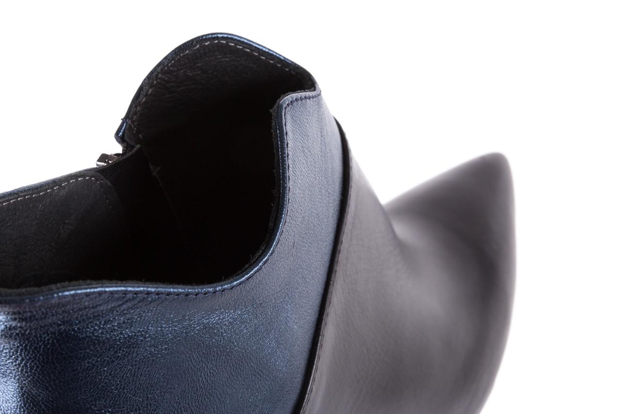 Botki bayla-097 4126 czarny-niebieski, skóra naturalna 14