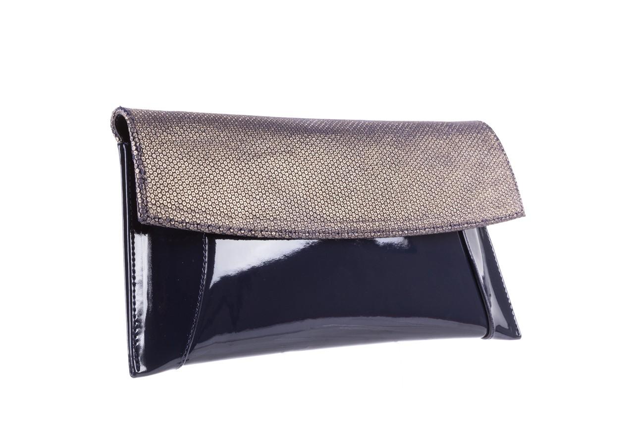 Bayla-097 torebka koperta sandra granatowo-złota - bayla - nasze marki 6