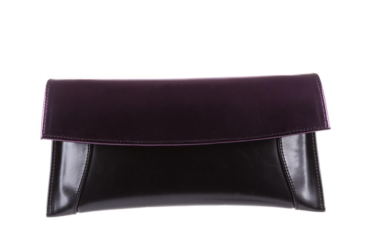 Torebka bayla-097 torebka koperta sandra czarno-fioletowa, skóra naturalna  - torebki - akcesoria - kobieta 5