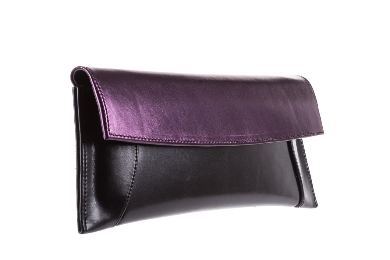 Torebka bayla-097 torebka koperta sandra czarno-fioletowa, skóra naturalna  - torebki - akcesoria - kobieta 6