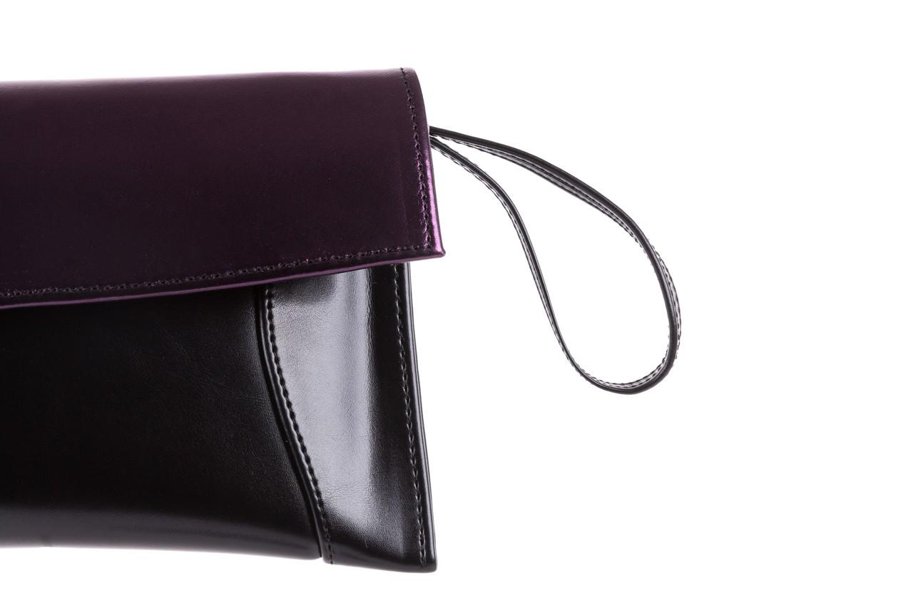 Torebka bayla-097 torebka koperta sandra czarno-fioletowa, skóra naturalna  - torebki - akcesoria - kobieta 9