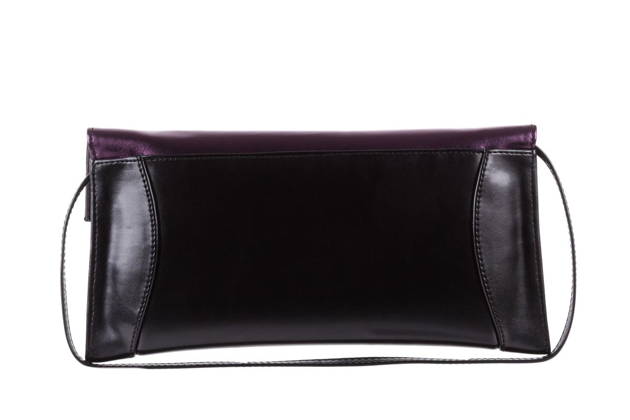 Torebka bayla-097 torebka koperta sandra czarno-fioletowa, skóra naturalna  - torebki - akcesoria - kobieta 8