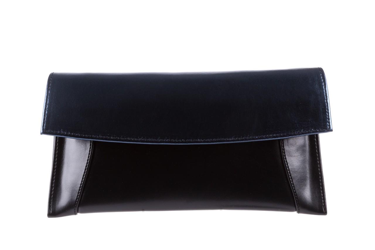 Torebka bayla-097 torebka koperta sandra czarno-granatowa, skóra naturalna 5