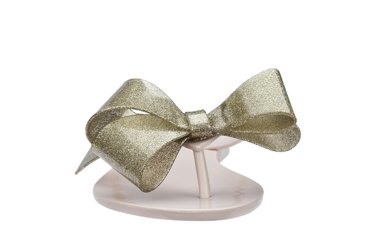 Klapki melissa harmonic bow iii ad beige glitter, beż, guma - melissa - nasze marki 7