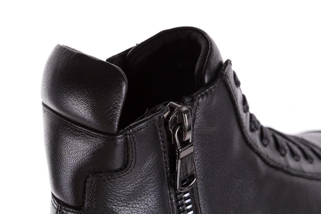 Sneakersy john doubare m5761-1 black, czarny , skóra naturalna  - trendy - mężczyzna 23