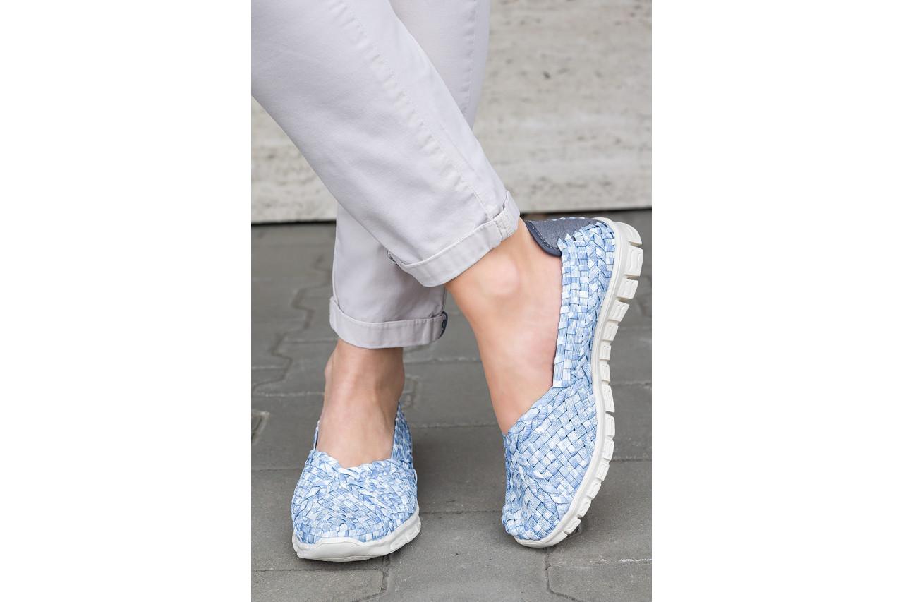 Półbuty rock carioca perena blue smoke 032826, niebieski/ biały, materiał - wsuwane - półbuty - buty damskie - kobieta 15