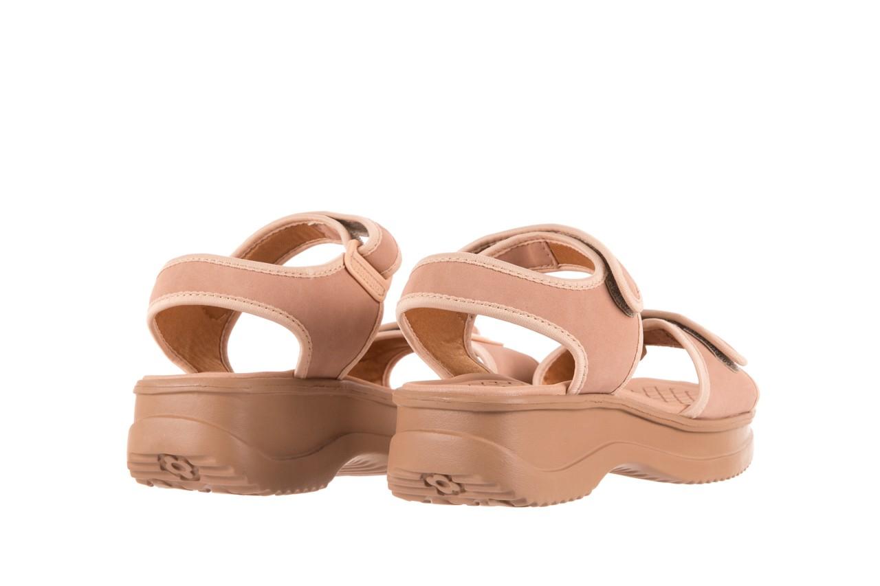 Sandały azaleia 320 750 nobuck nude, beż, materiał  - azaleia - nasze marki 9