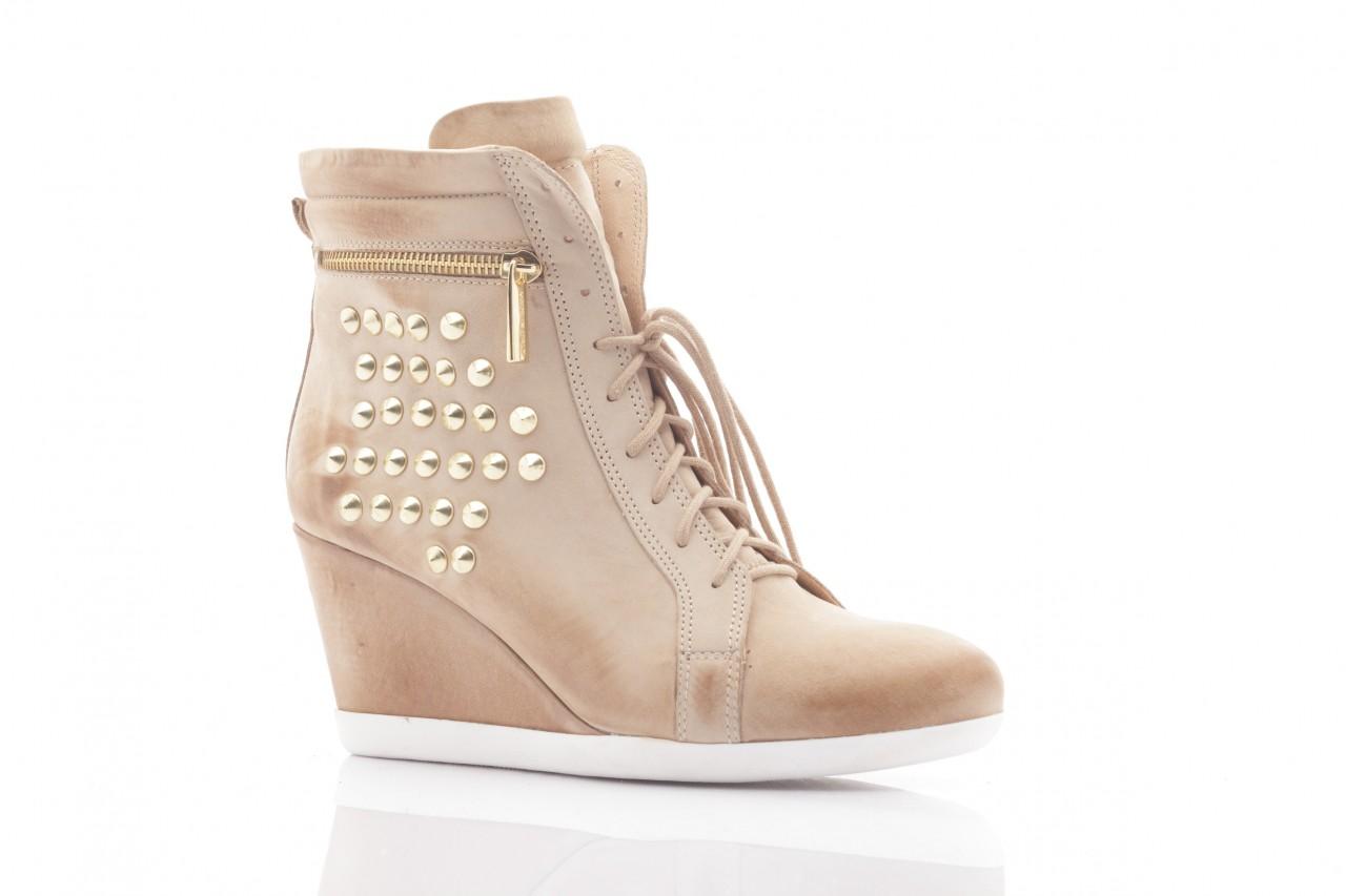 Sneakersy top but 805-4 beż, skóra naturalna 4
