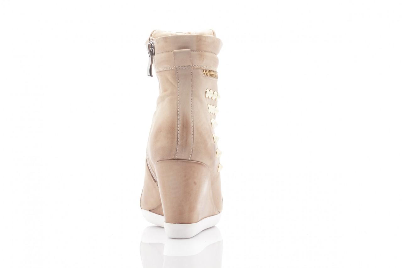 Sneakersy top but 805-4 beż, skóra naturalna 7