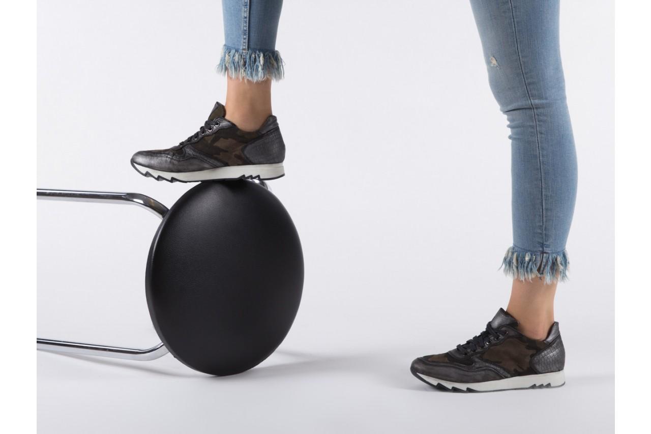 Sneakersy bayla-131 8401 grey, skóra naturalna  - obuwie sportowe - dla niej - dodatkowe -10% 13