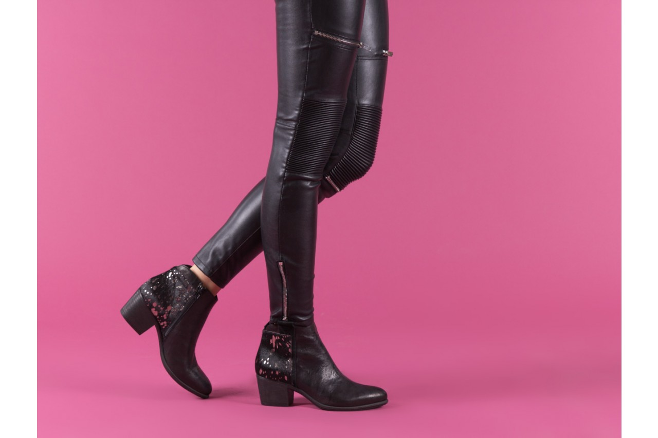 Botki bayla-131 7705 nero, czarny, skóra naturalna  - worker boots - trendy - kobieta 14