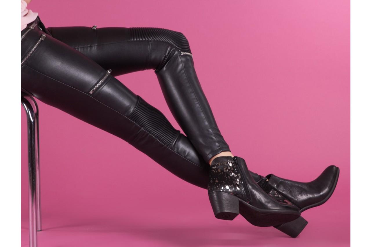 Botki bayla-131 7705 nero, czarny, skóra naturalna  - worker boots - trendy - kobieta 15