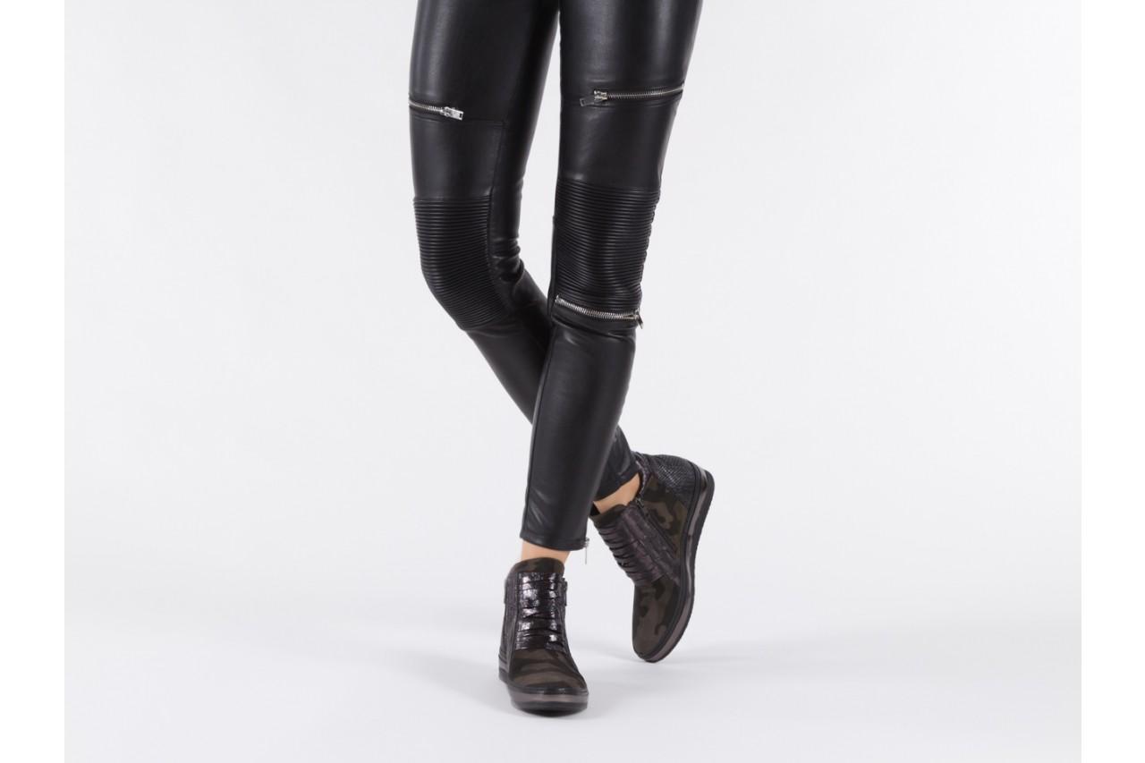 Sneakersy bayla-131 4006 grey, szary, skóra naturalna  - obuwie sportowe - dla niej - dodatkowe -10% 13