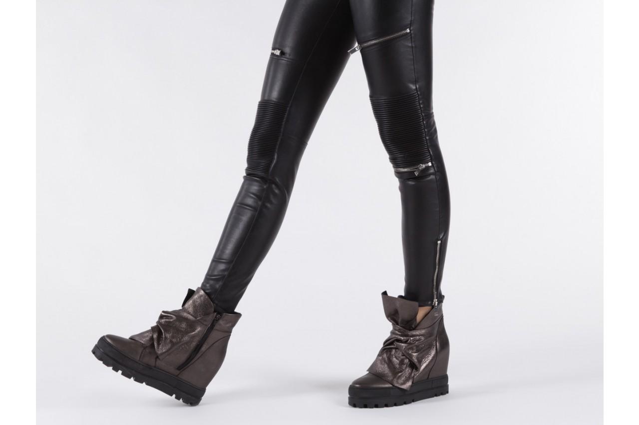 Botki bayla-136 g710 skóra antracyt, szary, skóra naturalna  - na platformie - botki - buty damskie - kobieta 15