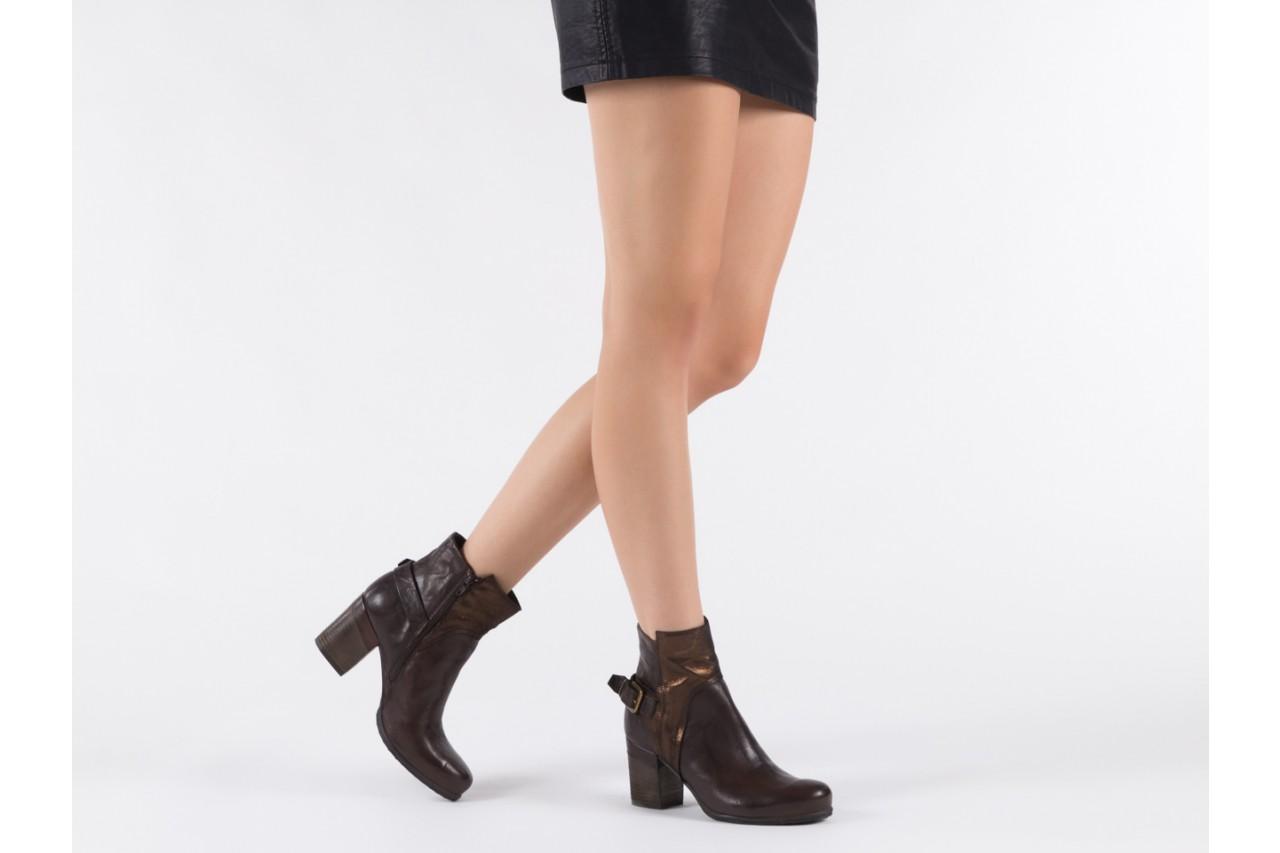 Botki bayla-131 8806 t.moro, brąz/ złoto, skóra naturalna  - kowbojki / boho - botki - buty damskie - kobieta 15