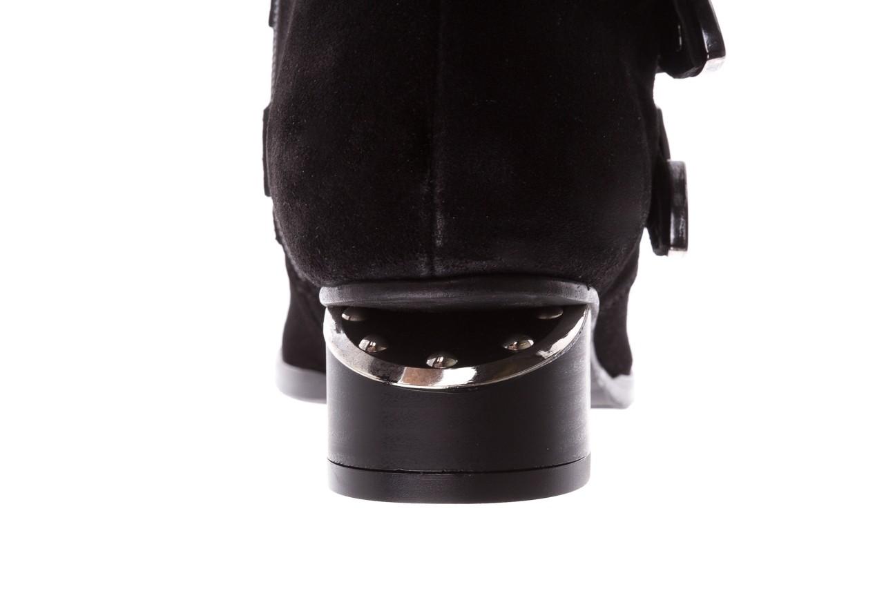 Botki bayla-177 b19117 czarne botki, skóra naturalna - dla niej  - sale 19