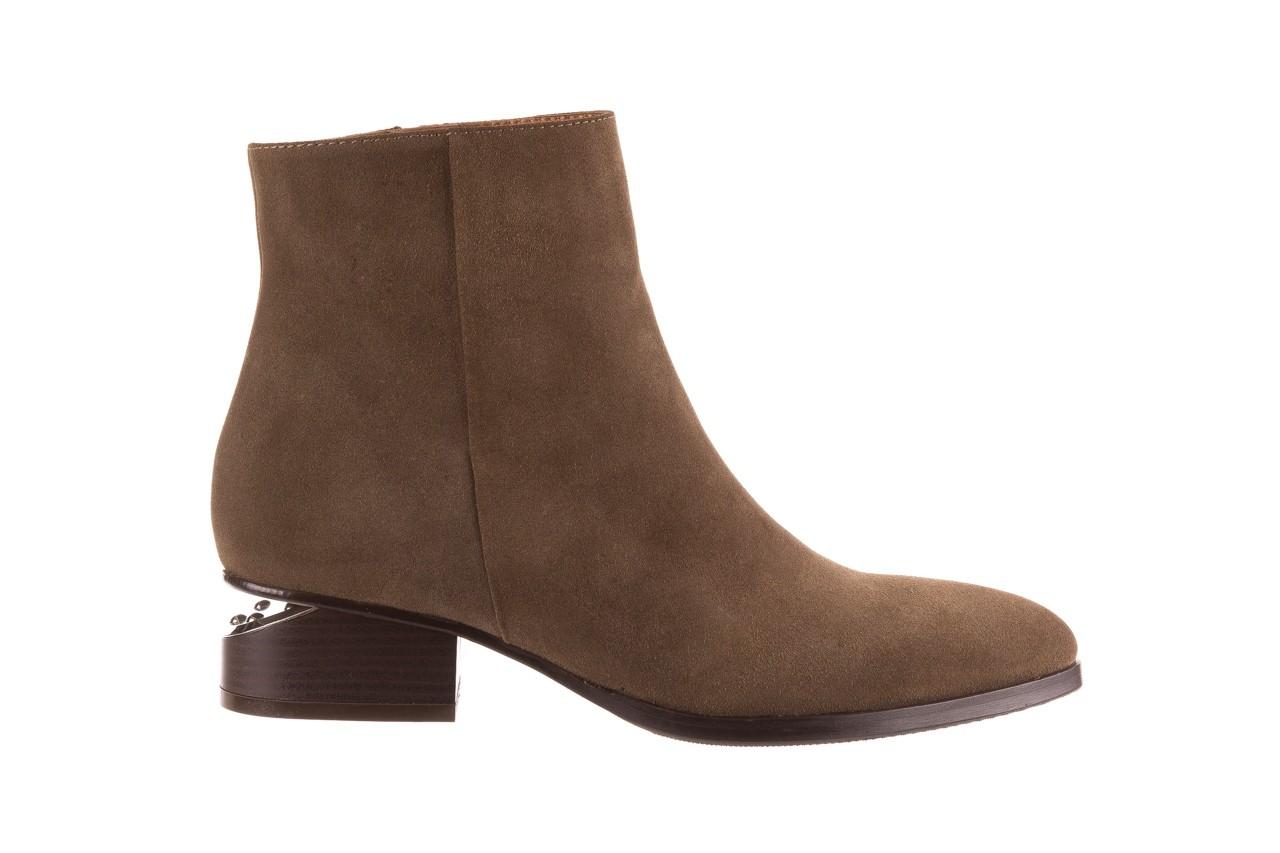Botki bayla-177 b19101 jasnobrązowe botki, skóra naturalna - zamszowe - botki - buty damskie - kobieta 9