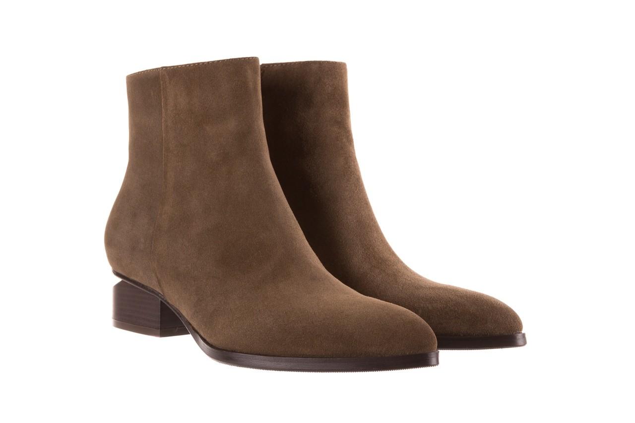 Botki bayla-177 b19101 jasnobrązowe botki, skóra naturalna - zamszowe - botki - buty damskie - kobieta 10