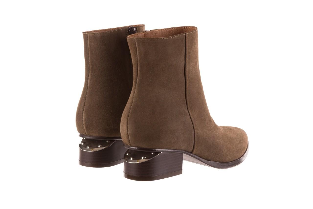 Botki bayla-177 b19101 jasnobrązowe botki, skóra naturalna - zamszowe - botki - buty damskie - kobieta 12