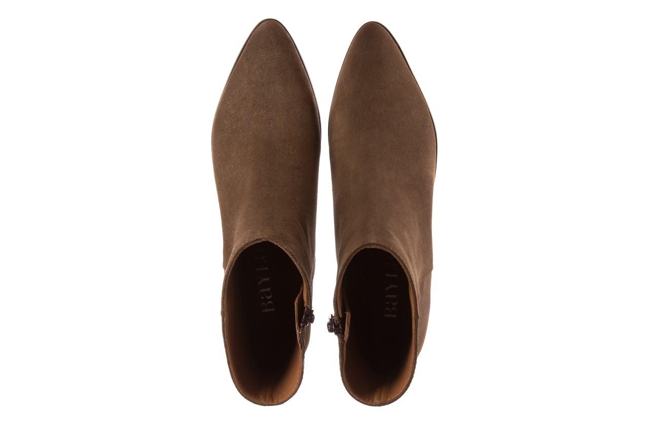 Botki bayla-177 b19101 jasnobrązowe botki, skóra naturalna - zamszowe - botki - buty damskie - kobieta 13