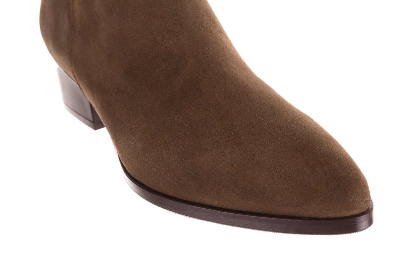 Botki bayla-177 b19101 jasnobrązowe botki, skóra naturalna - zamszowe - botki - buty damskie - kobieta 14