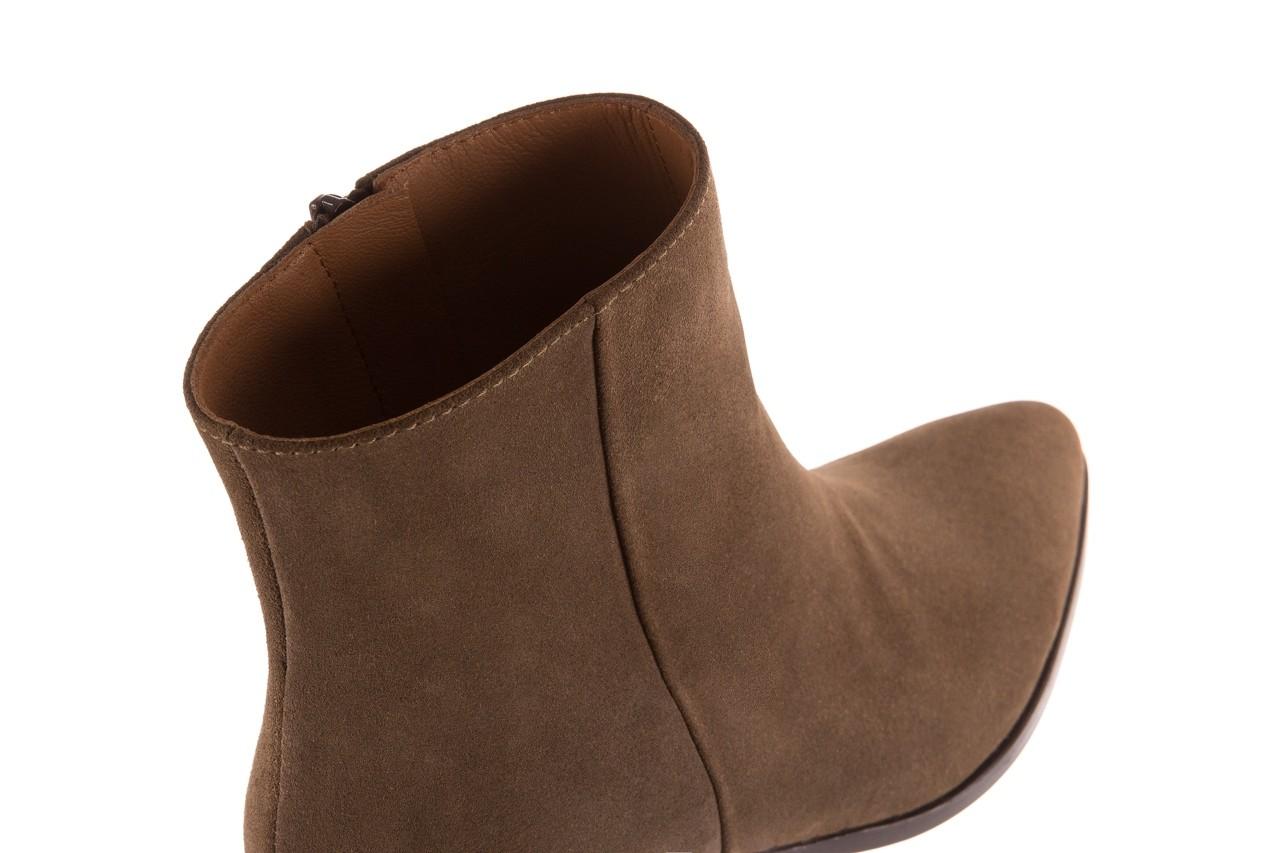 Botki bayla-177 b19101 jasnobrązowe botki, skóra naturalna - zamszowe - botki - buty damskie - kobieta 15