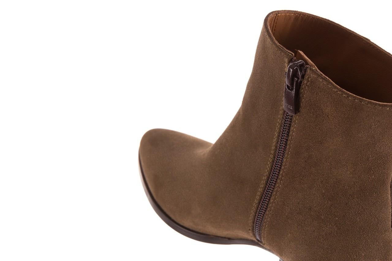 Botki bayla-177 b19101 jasnobrązowe botki, skóra naturalna - zamszowe - botki - buty damskie - kobieta 16