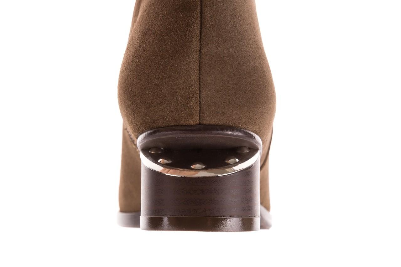 Botki bayla-177 b19101 jasnobrązowe botki, skóra naturalna - zamszowe - botki - buty damskie - kobieta 17