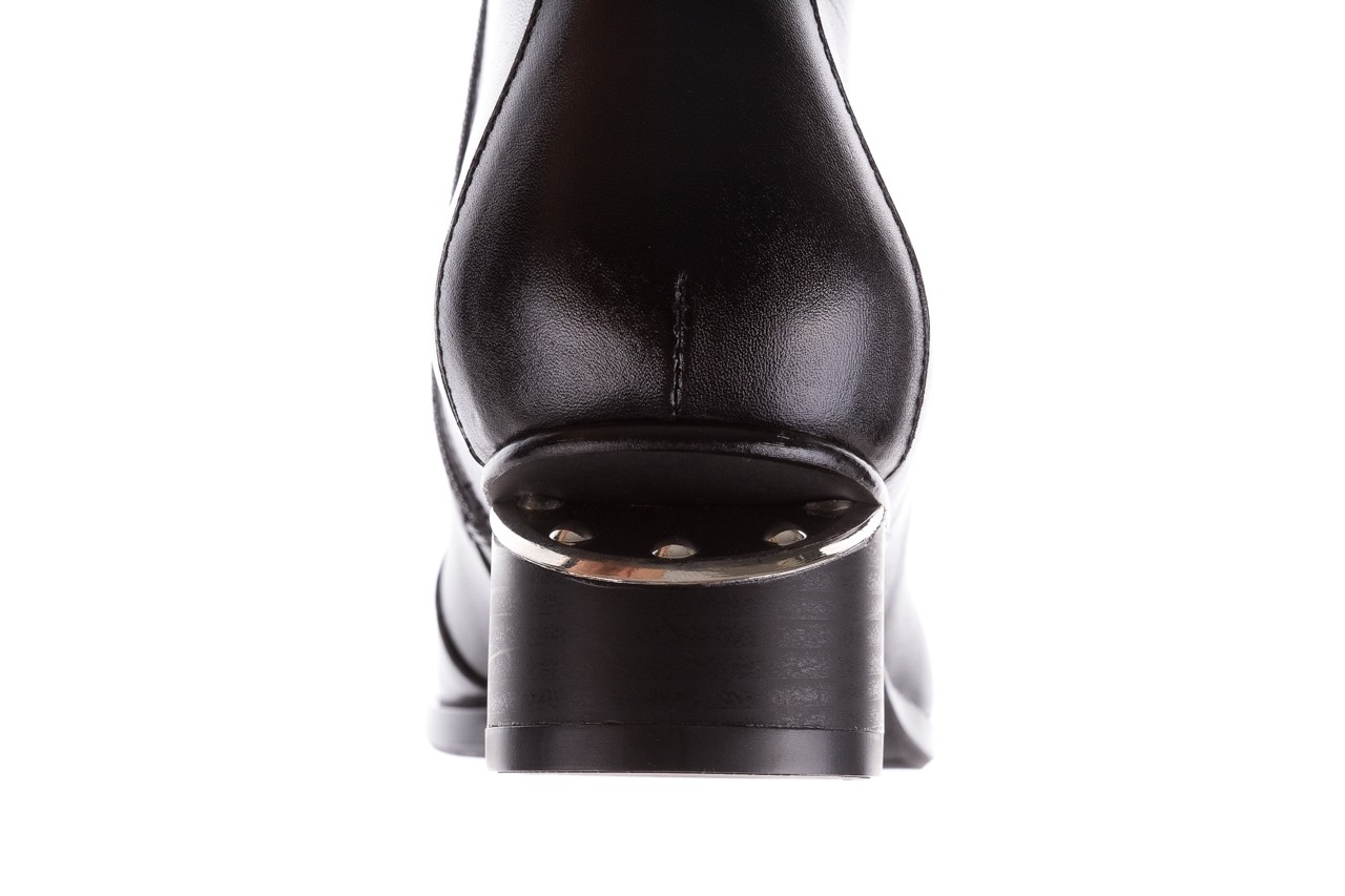 Botki bayla-177 b19118 czarne botki licowe, skóra naturalna - bayla - nasze marki 17