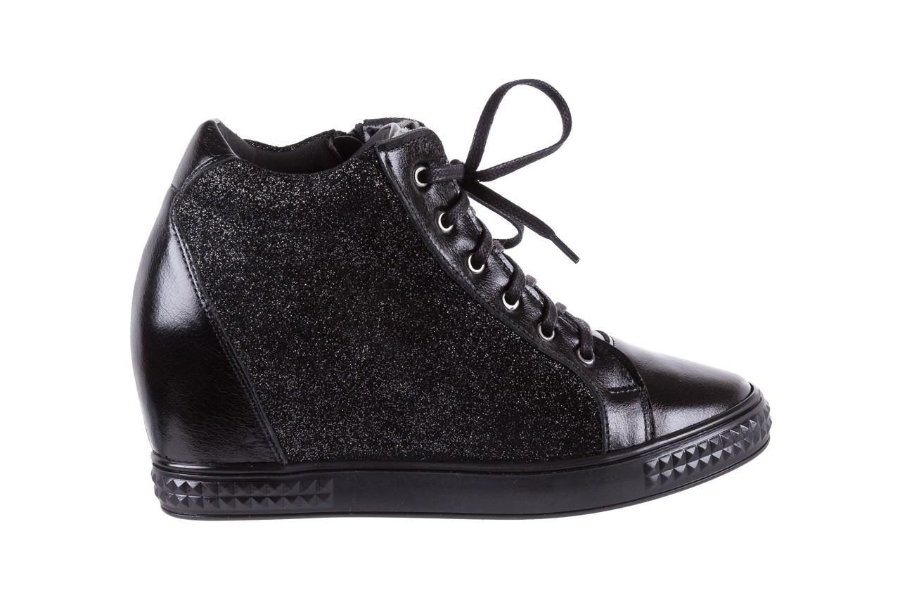 Sneakersy bayla-154 w-781 czarny, skóra naturalna 8