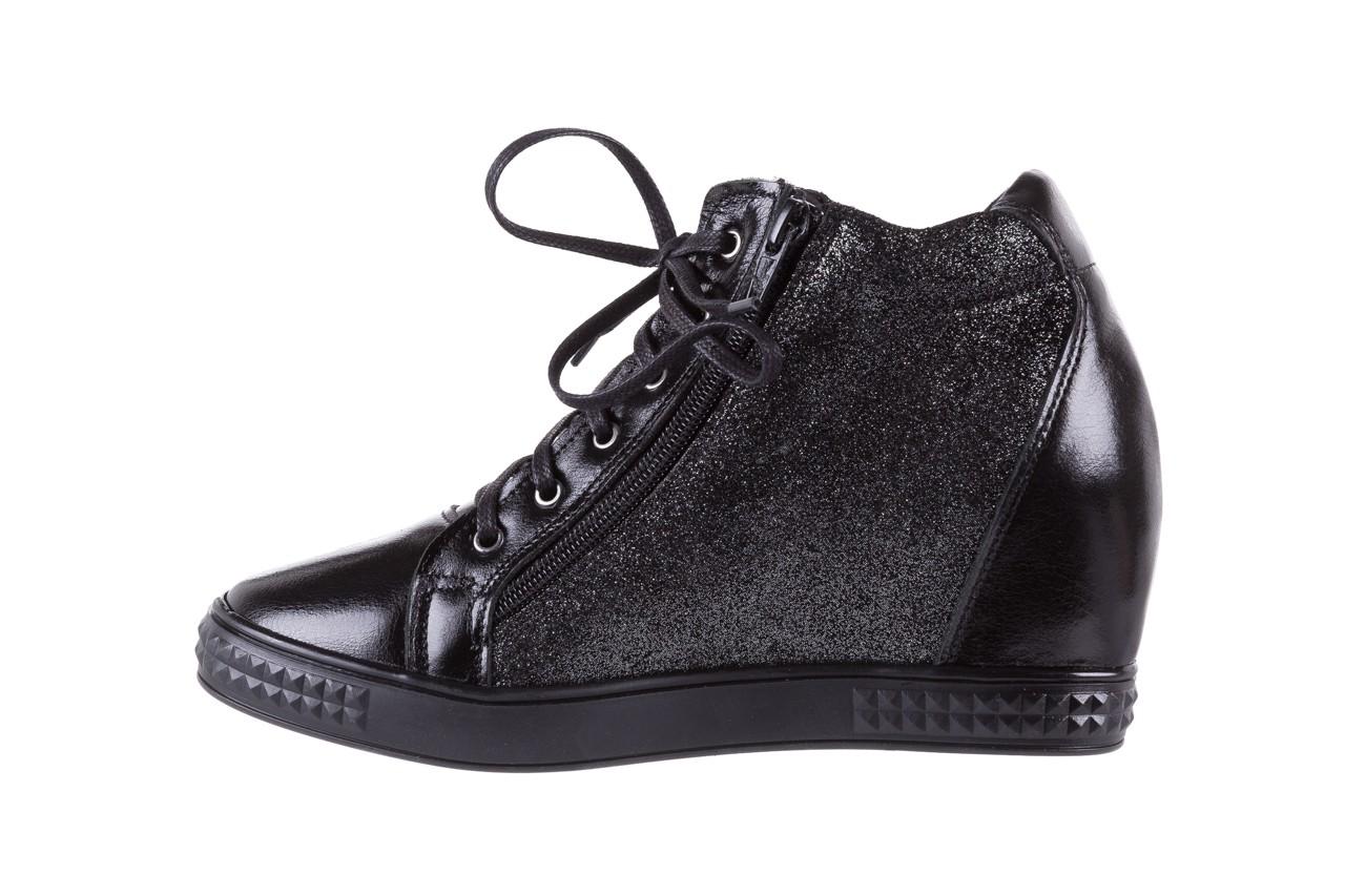 Sneakersy bayla-154 w-781 czarny, skóra naturalna 10