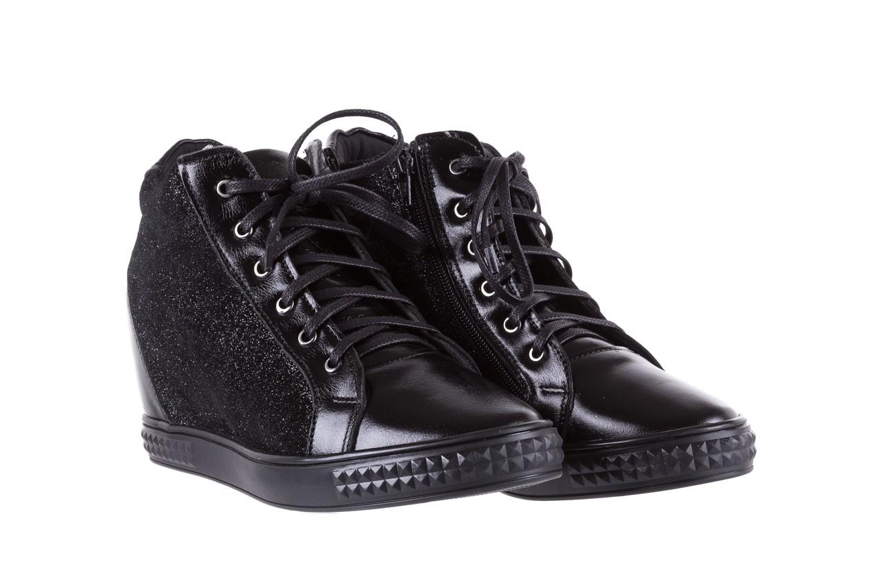 Sneakersy bayla-154 w-781 czarny, skóra naturalna 9