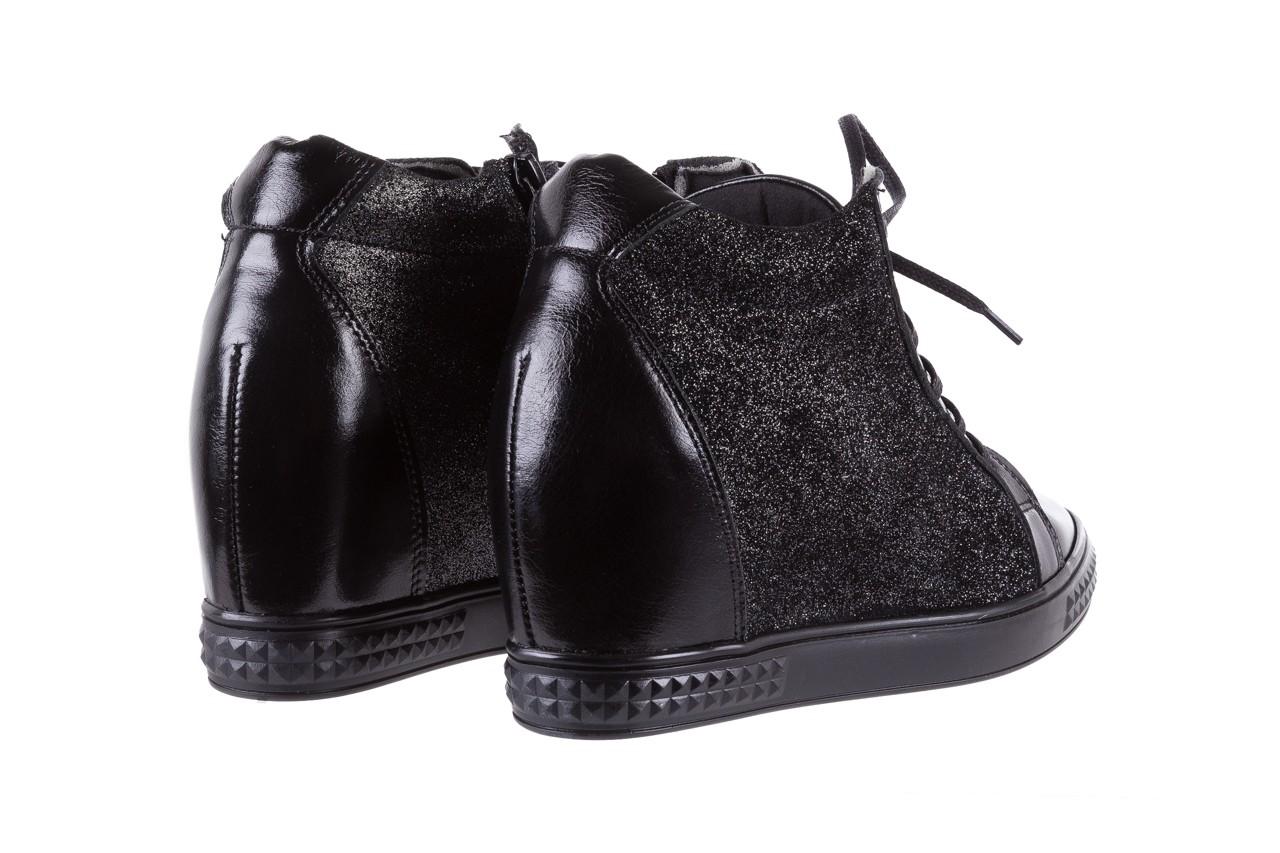 Sneakersy bayla-154 w-781 czarny, skóra naturalna 11